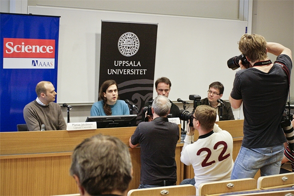 Press conference April 26th, 2012 at Uppsala University